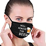 Reusable Will Remove for Beer Face Mouth Mask with Elastic Ear Loop Outdoor Activated Carbon Filter