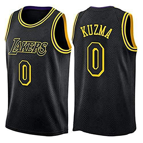 WSUN Herren Basketball Trikot NBA Lakers # 0 Kyle Kuzma NBA Trikot Unisex Ärmelloses T-Shirt Gesticktes Mesh Basketball Swingman Trikot,XL