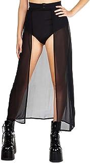 c586b48030 iHeartRaves Sheer, Sequin, Fringe Skirts - Maxi & Thigh High Festival Skirts