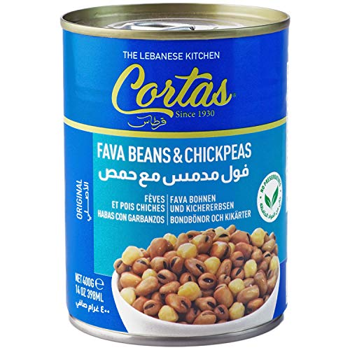Cortas - Fava Beans & Chickpeas 14oz (6 PACK), Ready to Eat