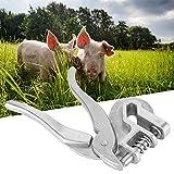 Alicates para etiquetas de oreja de cerdo con agarre cómodo, pinzas para cerdos