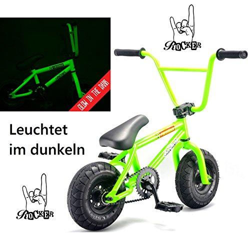 Rocker Mini BMX I-ROK+ - Minibicicleta y pegatinas y pulsera Fantc26, Fukushima (Nachts leuchtend)