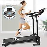 Fitnessclub Folding Electric Motorised 1100 W Treadmill Walking Running Machine Adjustable Incline Fitness...