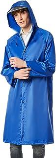 ユニセックス厚い厚いwindproof雨のポンチョハイキングアウトドアハイキングレインコート (Color : Blue)