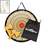 """Win SPORTS Foam Axe Throwing Game - Indoor/Outdoor Target Game Includes Two Foam Axes, One 26""""Easy-Fold..."""