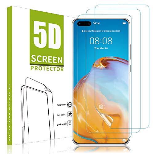 Vidro temperado MSOVA compatível com Huawei p40 PRO Film [dureza 9H] [sem bolhas] Protetor de tela transparente alto Adequado para Huawei p40 PRO (2 peças)
