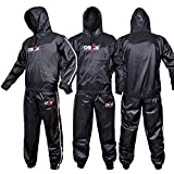 DEFY Heavy Duty Sweat Suit Sauna Exercise Gym Suit Fitness, Weight Loss, Anti-Rip, with Hood (Large)