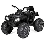 Best Choice Products 12V Kids 4-Wheeler ATV Quad Ride-On Car Toy w/ 3.7mph Max, LED Headlights, AUX Jack, Radio - Black