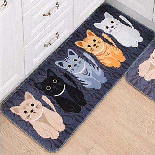 Gydthdeix - Alfombra Rectangular con diseño de Gatos y Gatitos para la Escalera del Inodoro, Dormitorio, Sala de Estar, baño, Cocina, decoración del hogar