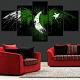 194Tdfc Flagge Von Pakistan 5 Teilig Leinwand Bilder