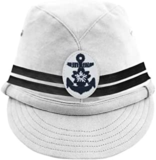 WWII Japanese IJN Navy Second Type Officer Field Cap White