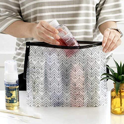 JNML Frauen Klar Kosmetiktaschen Mode PVC Kulturbeutel Reiseveranstalter Schönheit Fall Make-Up Tasche Bad Waschen Bilden Box, 2