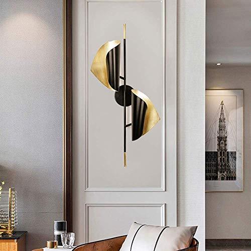 CLJ-LJ Alto sabor negro doble cabeza lámpara de pared escandinavo moderno minimalista personalidad creativa luz decoración hotel villa pasillo escaleras corredor 38 * 74 cm alto gusto