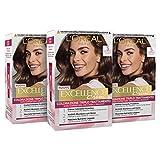 L Oréal Paris Tinta Capelli Excellence, Copre Il 100% dei Capelli Bianchi, a Lunga Durata, 5 Castano Chiaro, Confezione da 3