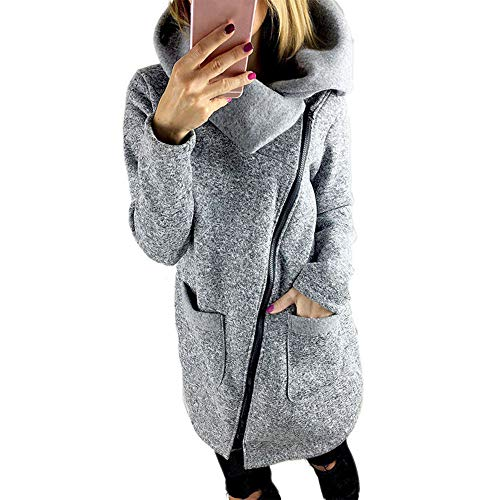 Deelin winterjas voor dames, modieus, casual, met rolkraag, sweatshirt, duurzaam, effen