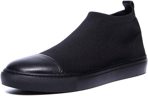 Alto otoño invierno que hace punto Mosaicos zapatos casuales  zapatos de pie transpirable ligero hombre