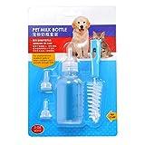 UEETEK 60ML Pet Nursery Bottle Kit perro gato de enfermería alimentación botella Set para gatitos cachorros pequeños animales