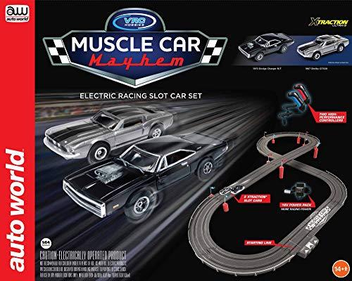 Image of Auto World/VRC Hobbies Muscle Car Mayhem HO Scale Slot Car Race Set CP7605