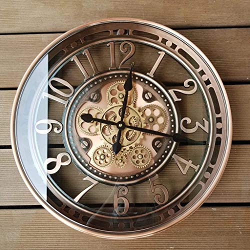 INFINITY TIME 21Inch Real Moving Gear Wall Clock Vintage Industrial Steampunk Cog Oversized Metal...