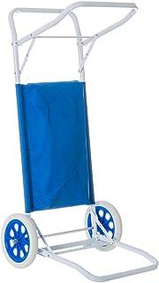 comprar comparacion LOLAhome Carro portasillas Plegable Azul para Camping y Playa Nuevo y Mejorado