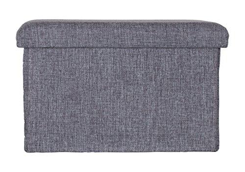 Brandsseller Stauraumhocker Aufbewahrungsbox Truhe Kiste - faltbar mit gepolstertem Deckel ideal zum Sitzen - Anthrazit, 76x38x38 cm