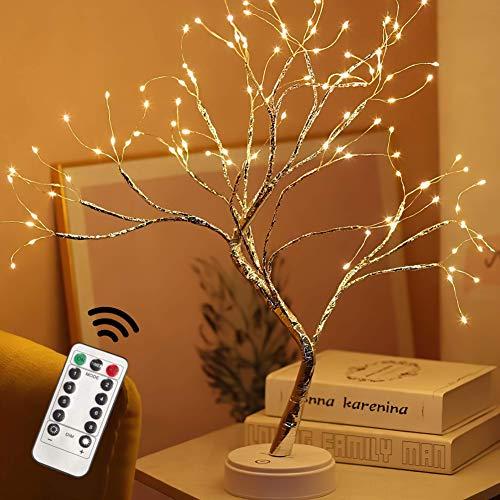 "2021 Upgrade 15 Functions Remote 20"" Fairy Tree Light Lamp 108 Led - Fairy Light Spirit Tree Celtic Serenity Fairy Light Spirit Tree Lamp"