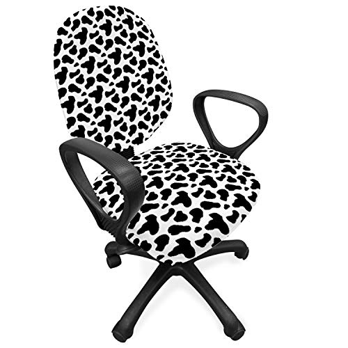 Ambesonne Cow Print Office Chair Slipcover, Animal Hide Pattern...