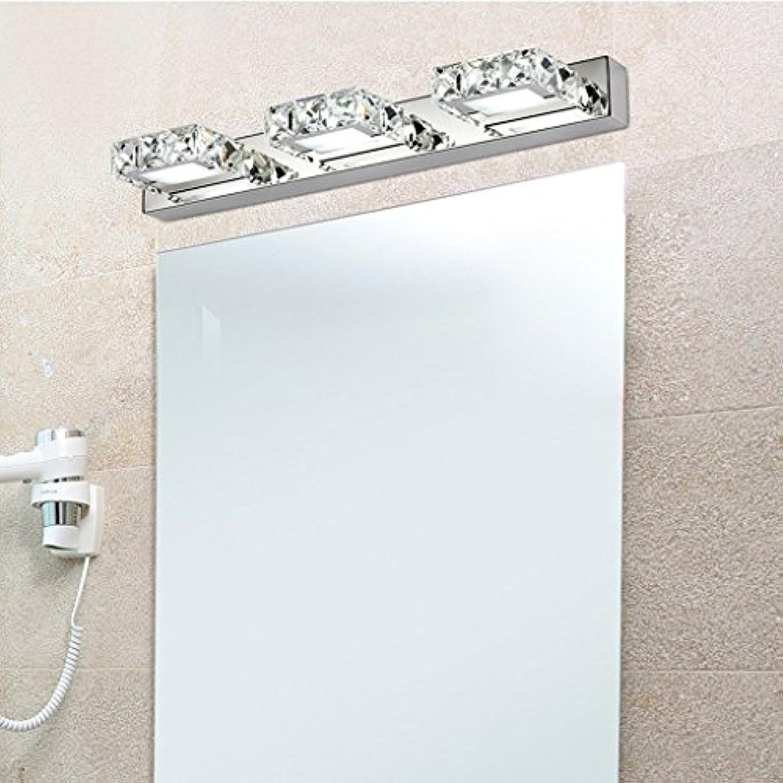 LED Crystal Spiegel vorne Licht Badezimmer Wand Leuchte Make-up-Leuchten Wasserdicht Feuchtigkeit (Gre  46 cm (18.1 in))
