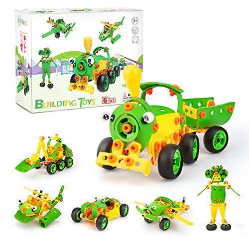 NextX Juguetes de construcción para niños Stem Kit de Juguetes para niños Bloques de construcción educativos Juguetes para niños y niñas Kit de Aprendizaje de 5-10 años Regalo 142 Piezas (Verde)