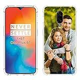 SHUMEI Coque de Protection personnalisée pour OnePlus 6T Cadeau Photo personnalisé, Absorption des...