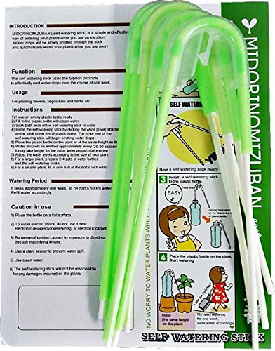 Richson Self Watering Stick-Green,Self Watering Tool for Bonsai Trees,5pcs/Pack