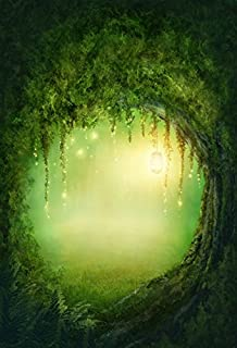 Baocicco Backdrop 3x5ft Enchanted Forest Photo Background Wonderland Fairyland Mystic Photo Booth Props Glitter Fantasy Backdrops for Adventure Scenery Photography Wedding Travel Journey Vacation