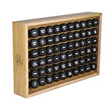 AllSpice Wooden Spice Rack, Includes 60 4oz Jars- Oak