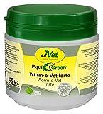 cdVet Naturprodukte EquiGreen Wurm-o-Vet forte 150 g - Pferde - wurmfeindliches Darmmillieu -  krankhaften Wurmbesatz vermeiden -  Mangel an Kräuterinhaltstoffen - Antiwürmer - Gesundheit -