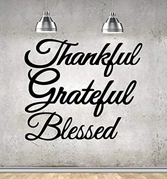 Thankful Grateful Blessed Wall Art Set Of 3 Metal Signs Steel Great Gifts