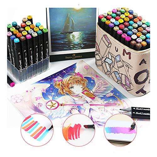 TOUCHFIVE Marker Pens Brush Marker Stifte 30/40/60/80 Farbige Sets in Schwarz (60 Sets für Animation)