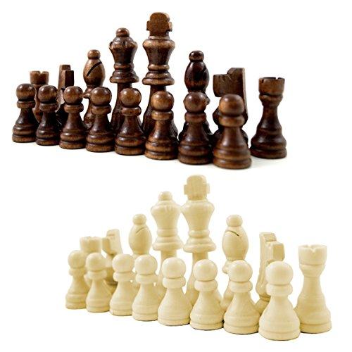 Schachfiguren aus Holz mit Filzgleiter