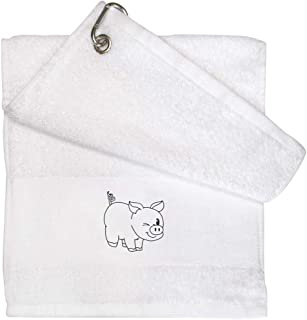 'Winking Pig' White Golf / Gym Towel (GT00021719)