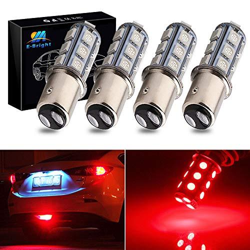 EverBright 1157 Led Bulb, BAY15D 1034 2057 2357 7528 Bulb for RV Camper SUV MPV Car Led Tail Lights Brake Lights Parking Lamp Bulb Side Marker Light, 18SMD 5050Chips DC-12V, Brilliant Red (Pack of 4)