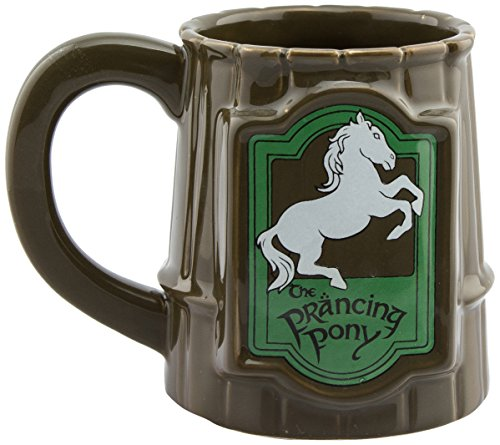 GB Eye Lord Of The Rings Prancing Pony Tasse, Keramik, verschiedene Farben, 13 x 11 x 11,5 cm