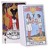 ANUFER 78 Piezas/Conjunto Cartas de Tarot Tablero de Cubierta Decir el Futuro Adivinación Juego Edición en Inglés Brujas Modernas SN07408