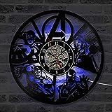fdgdfgd Clásico CD Registro CD Antiguo Registro LED Reloj Creativo Disco de Vinilo Decoración Linda de Dibujos Animados año Nuevo