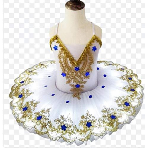 Disfraces llev la luz del lago de los cisnes Ballet del tut del ballet del traje de bailarina de las muchachas del vestido de los nios del vestido de partido de la etapa dancewear,Blanco,120CM