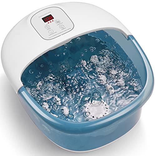 Fußbad mit Sprudel und Vibration, 14 herausnehmbare Massagerollen mit intelligenter Temperaturregelung, Home Office Use