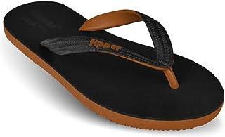 fipper Men's Black Series Rubber Thongs