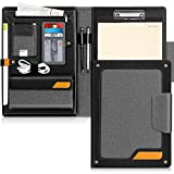 Padfolio Portfolio Case,Skycase Business Portfolio Folder,Interview/Conference/Legal Document Organizer with Letter/A4 Size Clipboard,Internal Holder for iPad/Tablet (up to 12.9')Document Sleeve-Black