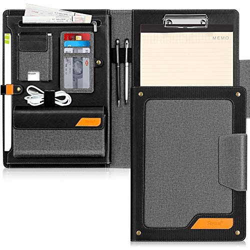 Padfolio Portfolio Case,Skycase Business Portfolio Folder,Interview/Conference/Legal Document Organizer with Letter/A4 Size Clipboard,Internal Holder for iPad/Tablet (up to 12.9