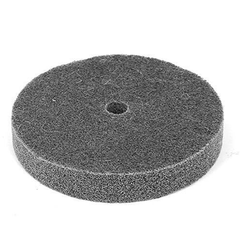 sourcing map a15122800ux0618 - Disco abrasivo para pulir rueda de fibra de nailon (150 mm de diámetro, 25 mm de grosor)