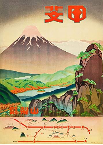 Japanese Wall Art Japan Travel Poster Mount Fuji 1930s Japanese Travel...