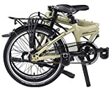 "Dahon Mariner I7 Folding Bike, Lightweight Aluminium Frame 7-Speed Shimano Gears 20"" Foldable Bicycle for Adults, Cream Color"